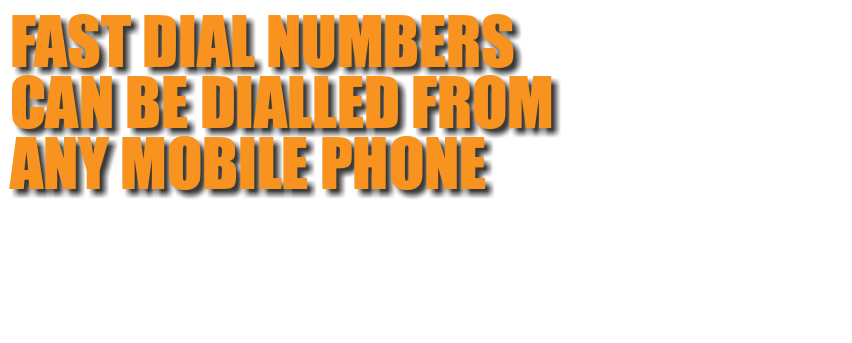 FAST DIAL NUMBERS